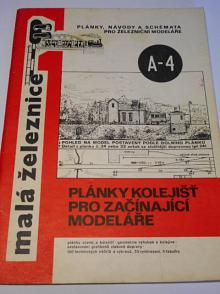 Plánky kolejišť pro začínající modeláře - malá železnice - 1983