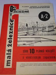 Série 10 plánků kolejišť s elektrickým zapojením - malá železnice - 1983