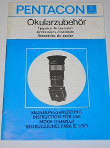 Pentacon - Okularzubehör - Bedienungsanleitung - 1977