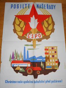 Posilte naše řady ČSPO - chráníme naše společné bohatství před požárem! plakát - Eva Feiglová