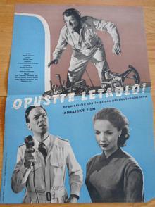 Opusťte letadlo - filmový plakát - 1959 - režie Charles Crichton - hrají Jack Hawkins, Elisabeth Sellarsová