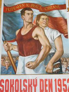 Sokolský den 1952 - plakát