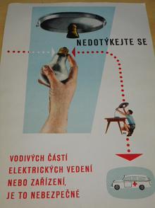 Nedotýkej se vodivých částí elektrických vedení nebo zařízení, je to nebezpečné!
