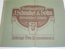 J. Schnabel a Sohn, Dessendorf (Desná), Böhmen - Musterbuch über Gebrauchs - Geschirre der Porzellanfabriken - 1919