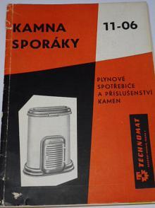 Kamna - sporáky - plynové spotřebiče a příslušenství kamen - Technomat - 1959