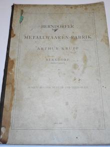 Berndorfer Metallwaaren - Fabrik - Arthur Krupp Berndorf - Auszuk aus dem Muster - und Preis - Buch - 1893
