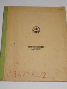 Rozměrové náčrtky kolesových velkorypadel - Uničovské strojírny, n. p. Uničov