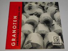 Granoten - smršťovací polyetylenová fólie - Granitol n. p. Moravský Beroun - prospekt - 1970