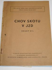 Chov skotu v JZD - druhý díl - 1958