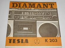 Tesla K 203 Diamant - návod k obsluze radiomagnetofonu