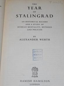 The Year of Stalingrad - Alexander Werth - 1946
