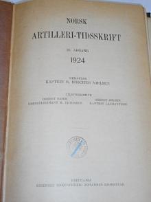 Norsk artilleri-tidsskrift 25. argang 1924 - kaptein R. Roscher Nielsen