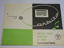 Orbita - rádio - návod k obsluze - 1969
