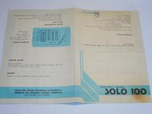 Solo 100 - rozhlasový prijímač - návod k obsluze