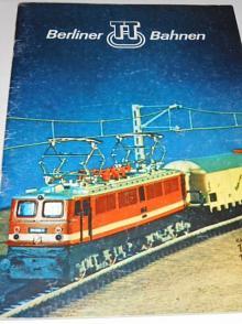 Berliner TT Bahnen - modelová železnice - katalog 1977 - 1978