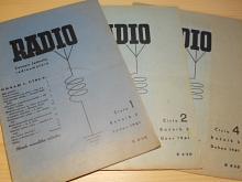 Radio - časopis jednoty radioamatérů - 1, 2, 4/1941