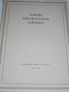 Schema inkurantních zařízení - Svazarm - 1956