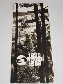 Sázavan, Zruč nad Sázavou - 1939 - 1969 - pohlednice