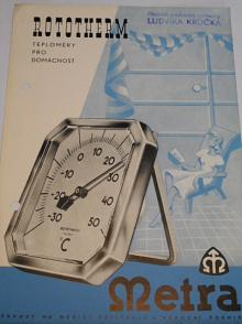 Metra - Rototherm - teploměry pro domácnost - prospekt - 1950