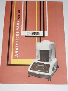 Mikrováhy A4/20 typ Meopta 165 03 - prospekt - 1960