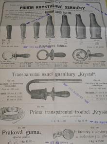 O. Zenker, Praha - Prima Krystalové ssavičky - prospekt - plakát - 1912