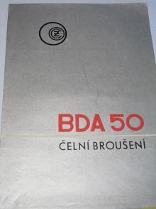 ČZ - BDA 50 čelní broušení - prospekt - 1967 - České závody motocyklové n. p. Strakonice