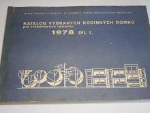 Katalog vybraných rodinných domků pro svépomocnou výstavbu - 1978 - díl 1.