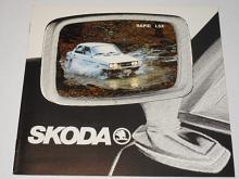 Škoda - S 105 S Favorit, Favorit L, Rapid L, Rapid LS, Rapid GLS, Coupé Rapid - prospekt - N. V. Skoda Motor