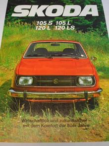 Škoda 105 S, 150 L, 120 L, 120 LS - prospekt - 1980 - Semex GmbH