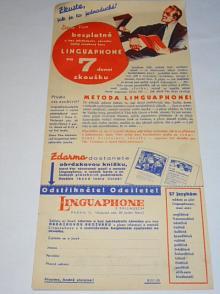 Linguaphone řečem naučí - F. Pallausch, Praha II - prospekt