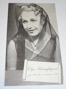Olga Scheinpflugová - její básnické a románové dílo - leták