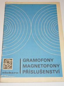 Gramofony, magnetofony, příslušenství - katalog prodejny Elektro podniku Domácí potřeby