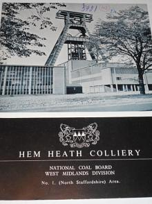 Hem Heath Colliery - National Coal Board West Midlands Division - prospekt