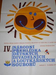 IV. národní přehlídka dětských divadelních a loutkařských souborů - Kaplice 17. - 23. června 1977 - plakát