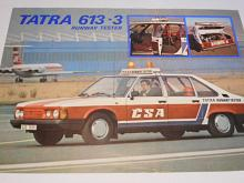 Tatra 613-3 Runway tester - prospekt