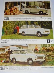Trabant 601, 601 S, 601 de luxe, universal - 1966 - prospekt