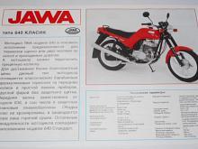 JAWA 350 typ 640 klasik - prospekt