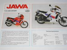 JAWA 350 type 640 sport - prospekt