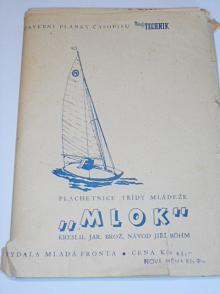 Mlok - plachetnice třídy mládeže - stavební plány časopisu Mladý technik