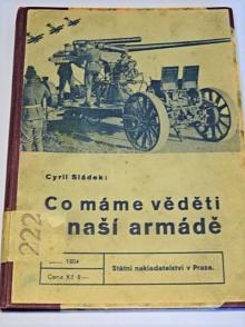 Co máme věděti o naší armádě - Cyril Sládek - 1938