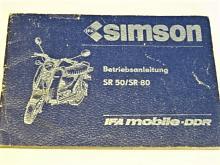 Simson - Roller SR 50, SR 80 - Betriebsanleitung - 1986