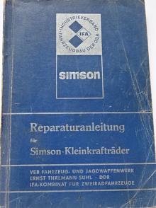 Simson - Reparaturanleitung für Simson - Kleinkrafträder der Typenreihen - S 50, KR 51, SR 4 - 1979