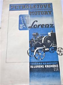 Lorenz - petrolejové motory - prospekt - 1937