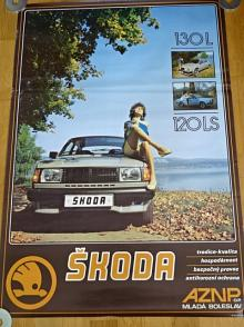 Škoda 130 L, 120 LS - plakát - AZNP Mladá Boleslav