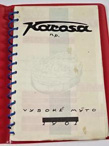 Karosa n. p. Vysoké Mýto - 1961 - výrobní program - zápisník