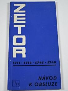 Zetor 5711, 5718, 5745, 5748 - návod k obsluze - 1971