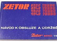 Zetor 8520 turbo, 8540 turbo, 9520 turbo, 9540 turbo - návod k obsluze a údržbě - 1992
