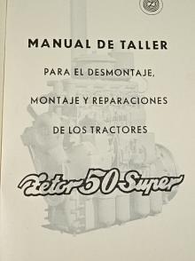 Zetor 50 Super - Manual de taller - para el desmontaje, montaje reparaciones de los tractores - 1962