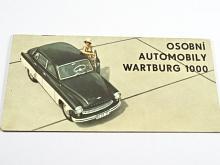 Osobní automobily Wartburg 1000 - prospekt - 1964