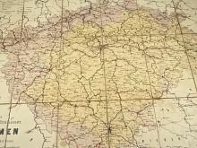 Das Eisenbahn und Strassennetz von Böhmen von Ingenieur W. Daniel in Pilsen - 1893 - mapa